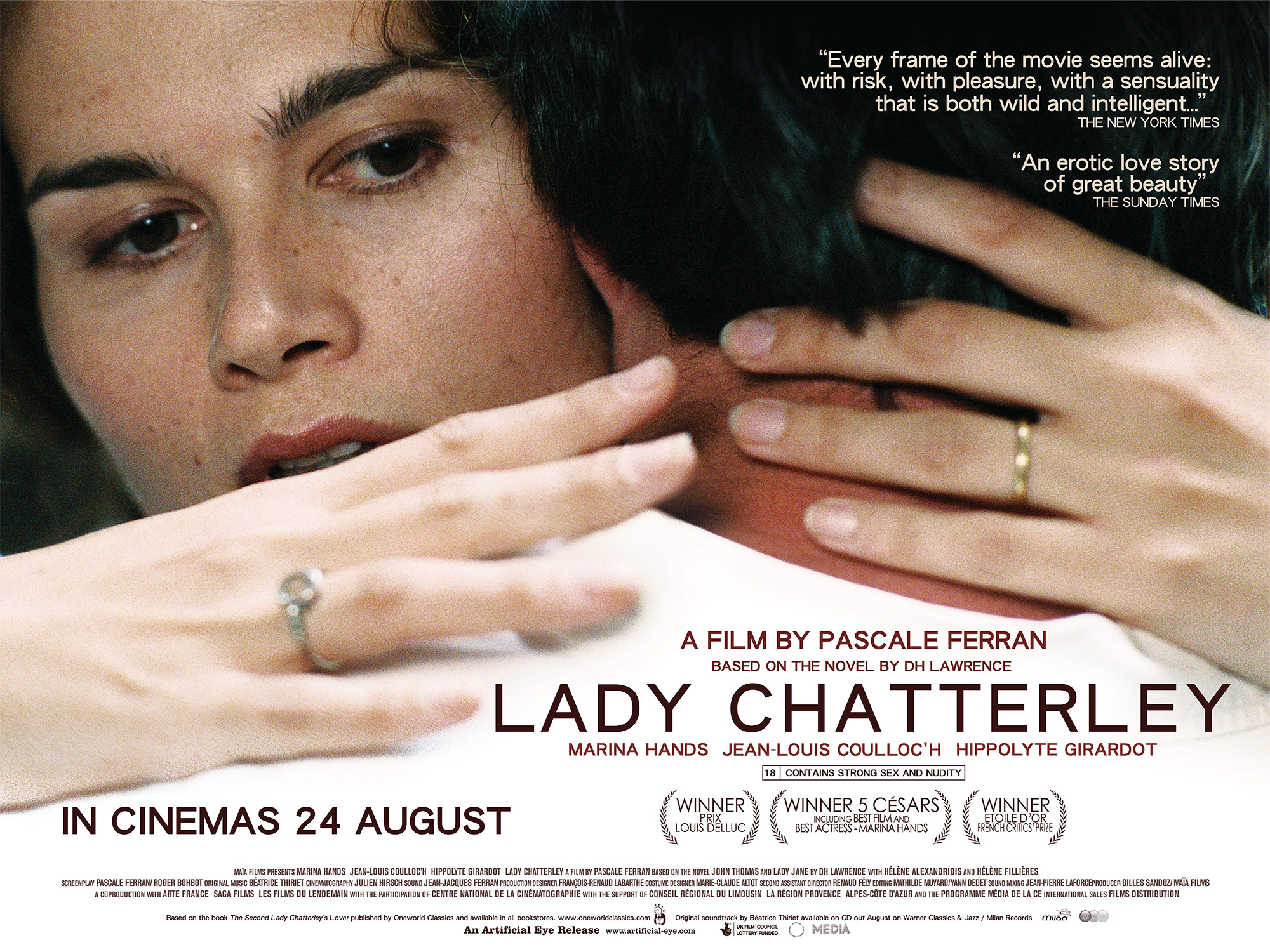lady chatterleys lover 2006 streaming Classic early 20th-century novel lady chatterley's lover is about the ferran's lady chatterley (which won 2006's top french film honors).